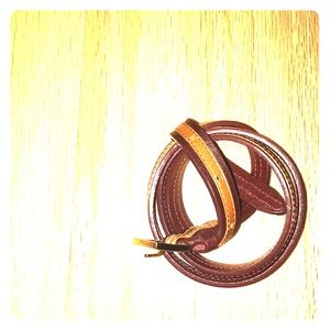 Accessories - Thin Two-tone Belt